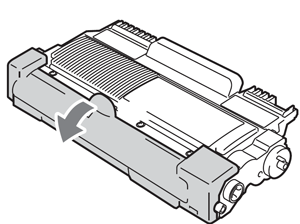 Removing protective cover from toner cartridge for Brother MFC-7360, MFC-7460, MFC-7860
