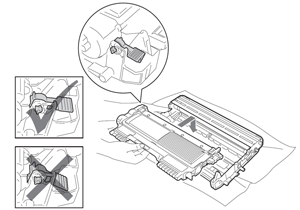Installing new toner cartridge in drum for Brother HL2220, HL2230, HL2240, HL2270, HL2280