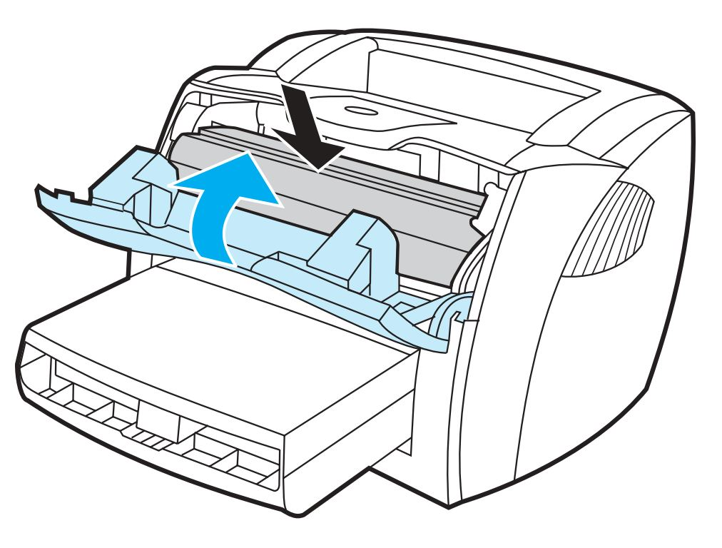 Print cartridge inserted and cover closed