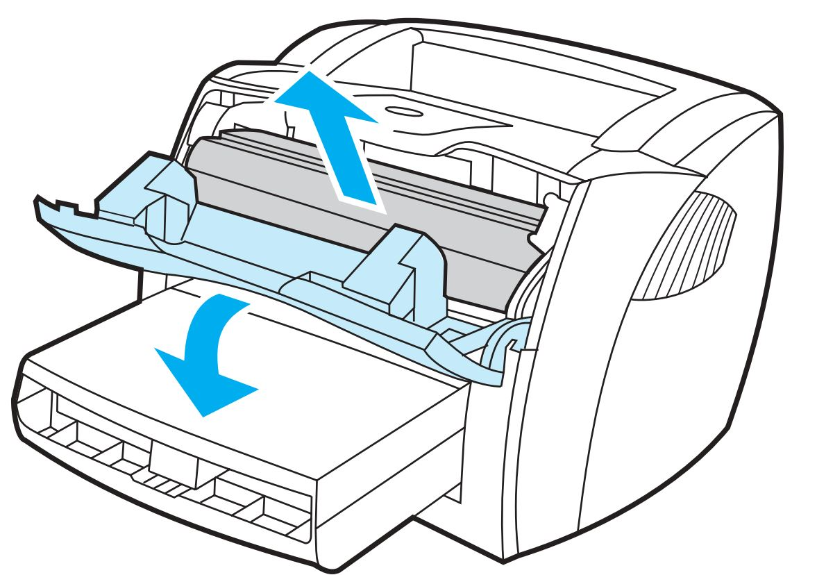 Print cartridge door opened and print cartridge removed