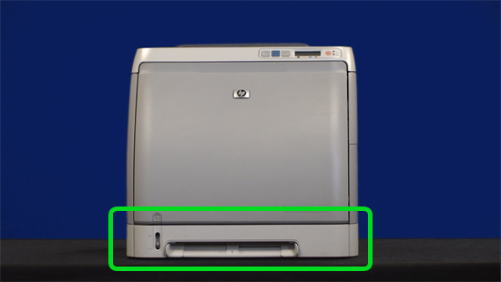 install tray 2 into the printer - Hp Color Laserjet 2600n