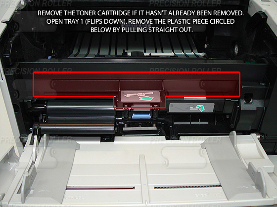 Toner cartridge removed