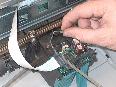 Step 11: Removing Old HP Printhead Belt
