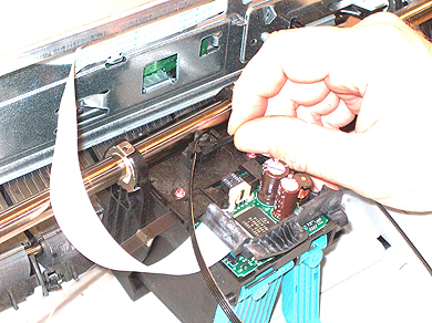 Step 12: Installing HP DesignJet 700 Printhead Belt