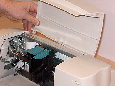 Step 1: Removing Printer Lid (Access Door)