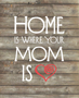 """Home is where your mom is"" DIY printable thumbnail"