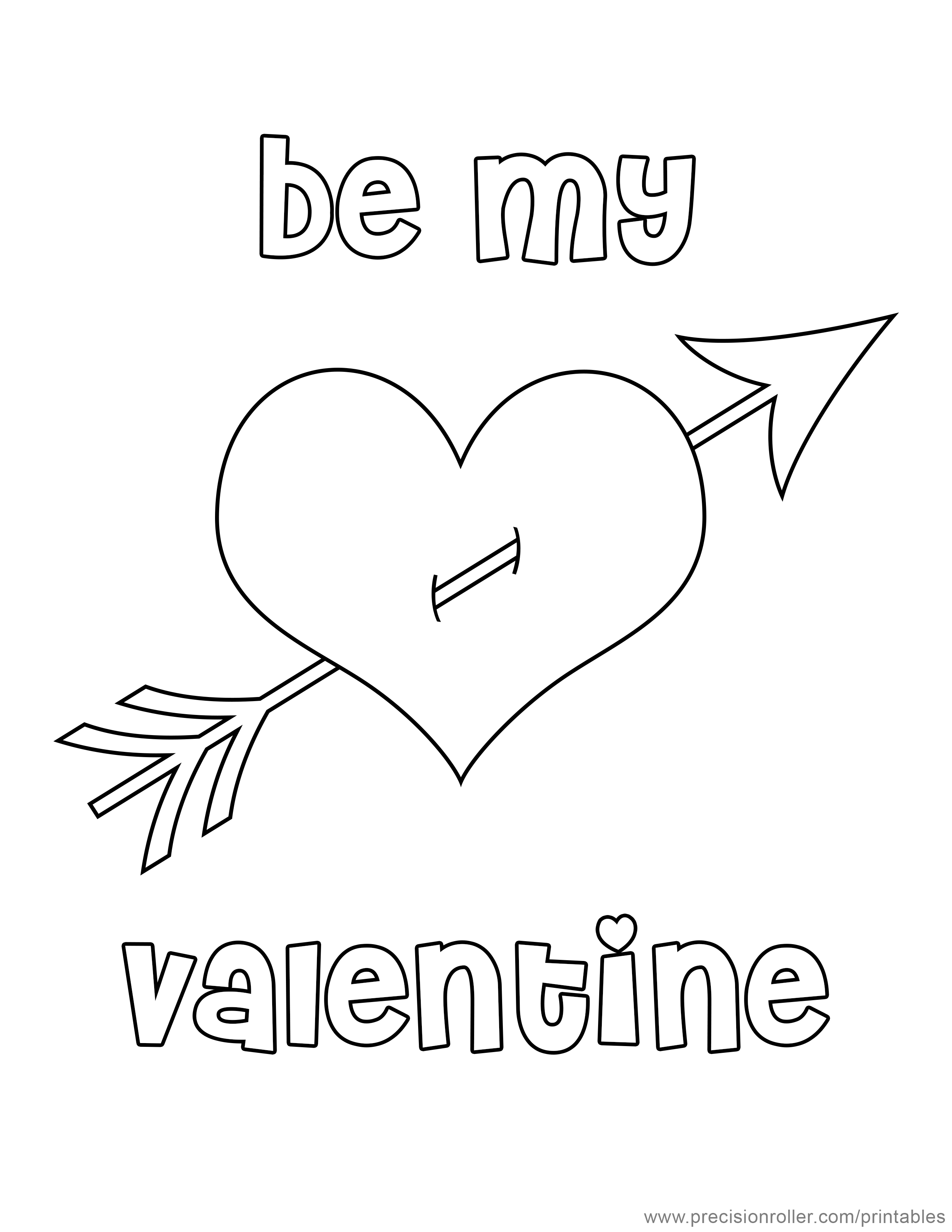 Valentine\'s Day Heart Coloring Page - Precision Printables