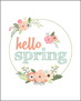 """Vintage Spring Flowers"" DIY printable"