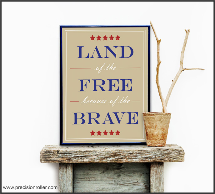 Free Patriotic 8x10 Printable Art