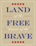 """Land of the Free because of the Brave"" DIY printable thumbnail"