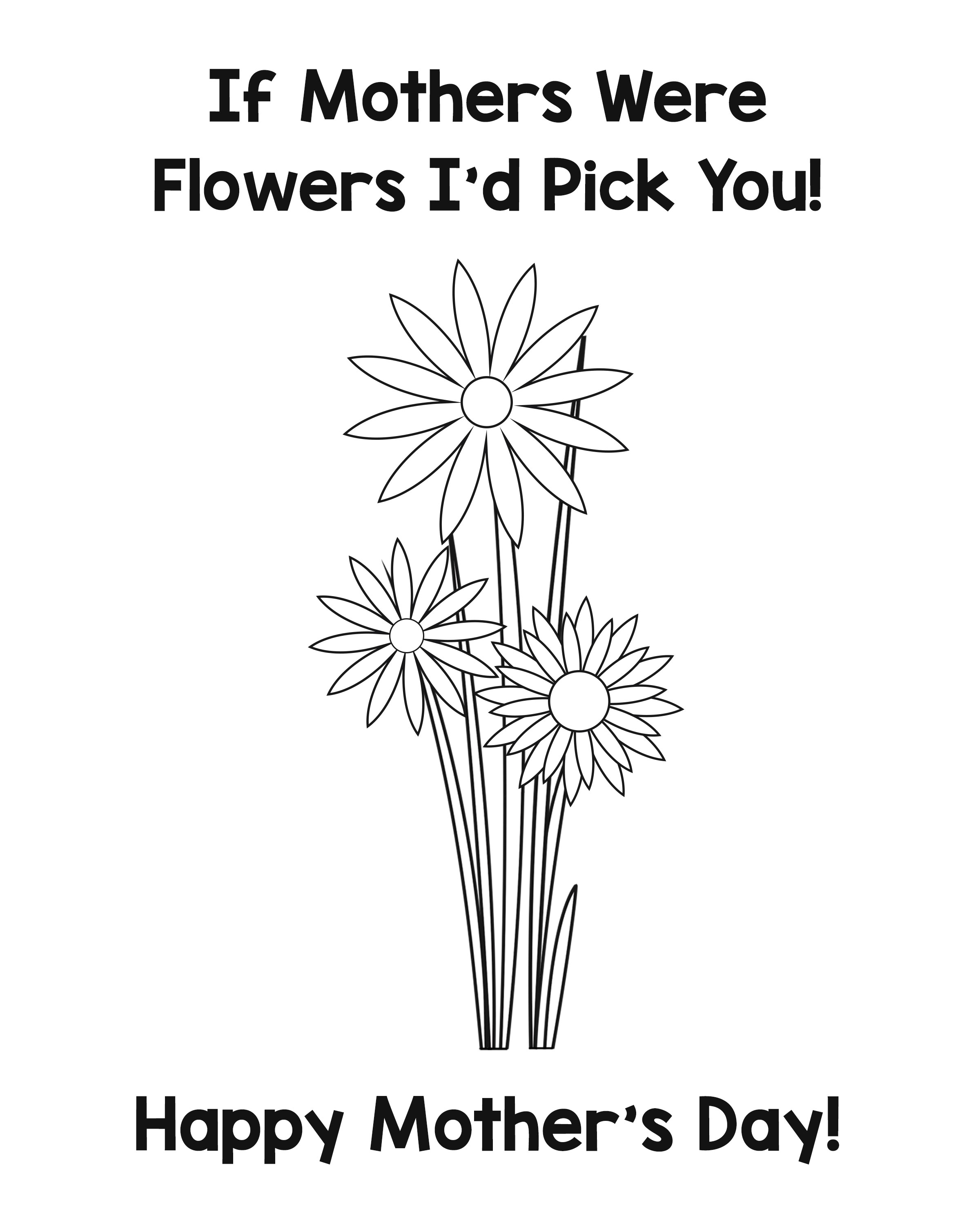 image relating to Printable Mothers Day Cards to Color called Moms Working day Card and Questionnaire - Accuracy Printables