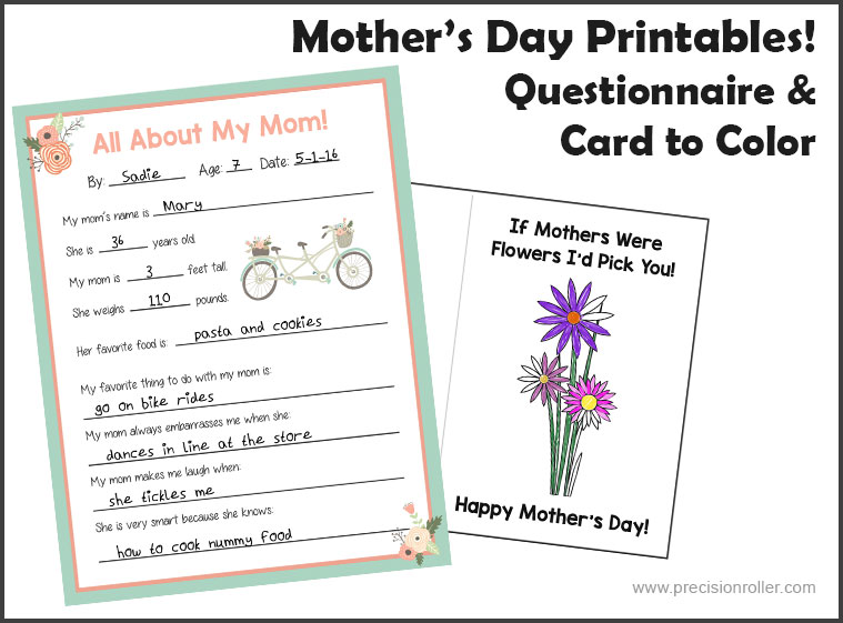 photograph about Mom Printables identify Moms Working day Card and Questionnaire - Accuracy Printables