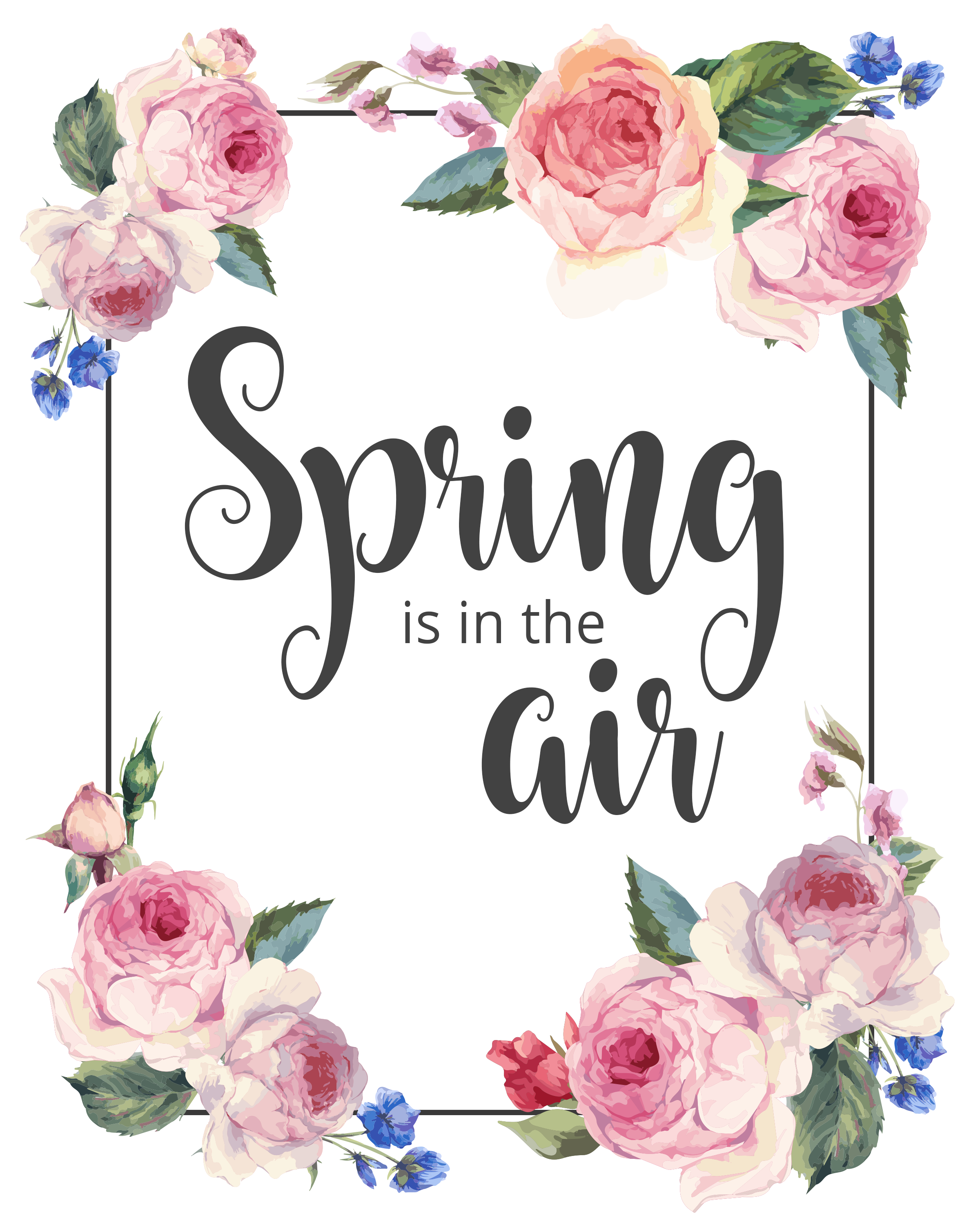 Spring Is In The Air 8x10 Printable Precision Printables