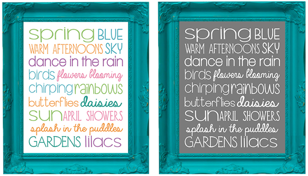 photograph relating to Subway Art Printable known as Springtime Subway Artwork Printable - Accuracy Printables
