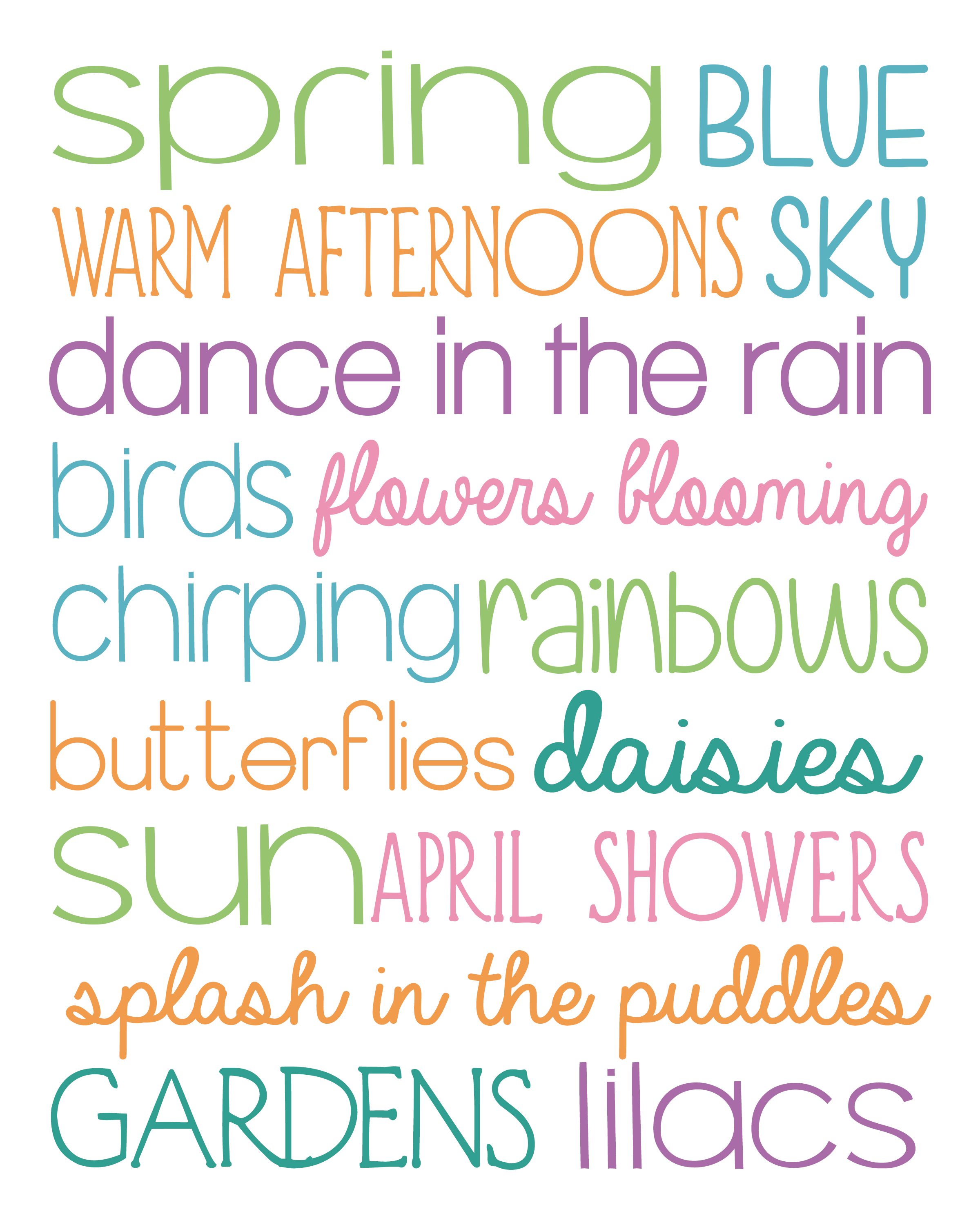 image regarding Spring Printable referred to as Springtime Subway Artwork Printable - Accuracy Printables