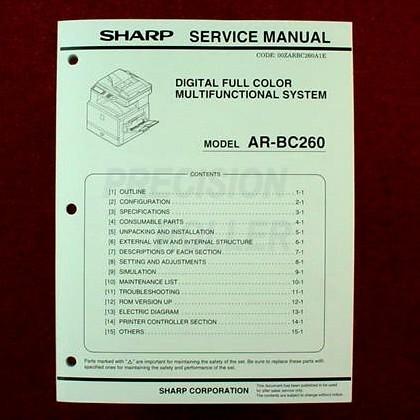 sharp arbc260 supplies and parts all. Black Bedroom Furniture Sets. Home Design Ideas