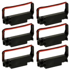 Epson TM-U220D Ribbon Cartridge - Black / Red - Package of 6 (Compatible)
