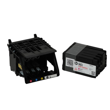 Genuine HP OfficeJet Pro 8610 e-All-in-One Print Head with HP 950 and HP  951 Starter Inks