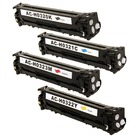 HP Color LaserJet Pro CM1415fnw MFP Toner Color Cartridges - Set of All 4 (Compatible)