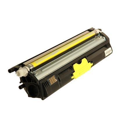 Image of ld compatible konica minolta magicolor 1600w set of 4 high yield laser toner cartridges: 1 black a0v301f
