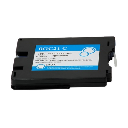 Cyan Inkjet Cartridge for the Ricoh Aficio GX3000 (large photo)