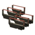 Star Micronics SP500 Black / Red Ribbon - Package of 6 (Compatible)