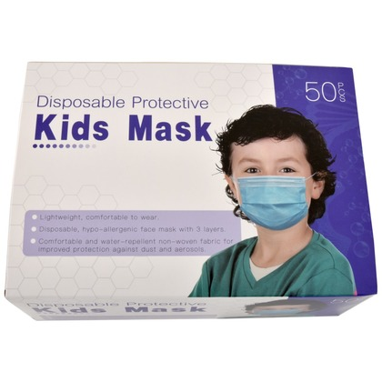 Kids 50 Pack Disposable Face Masks (large photo)