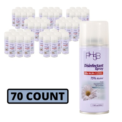 Disinfectant Spray - 75% Alcohol - Case of 70 Cans (large photo)