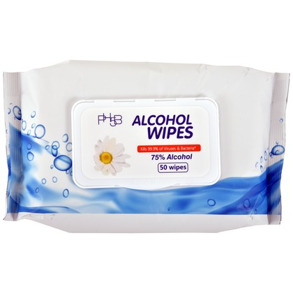 75% Alcohol Sanitizing Wipes - Bag of 50 (large photo)