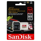 SanDisk SDSQXVF-064G-GN6MA Extreme 64GB MicroSDXC UHS-I Card w/Adapter