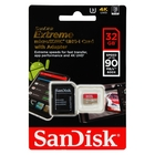 SanDisk SDSQXVF-032G-GN6MA Extreme 32GB MicroSDXC UHS-I Card w/Adapter