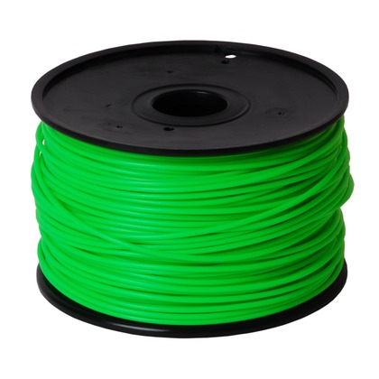 3.00mm ABS Green 3D Printer Filament (large photo)