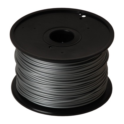 3.00mm PLA Silver 3D Printer Filament (large photo)