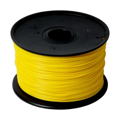 1.75mm PLA Yellow 3D Printer Filament (large photo)